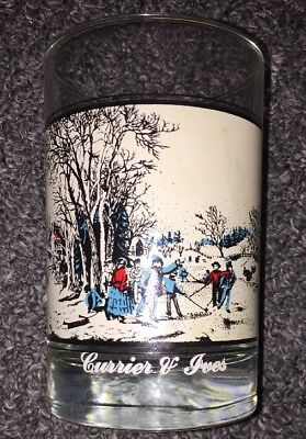 Vintage Arby's Winter Pastime Currier & Ives Collectors Series Glass 1981