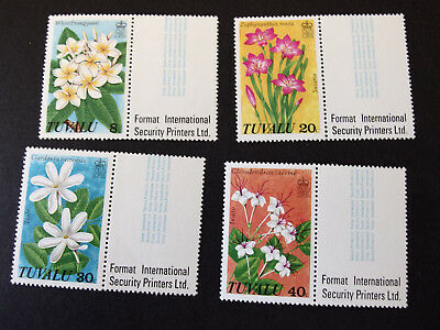 Tuvalu - 1978 - Flora Flowers - set of four - MNH