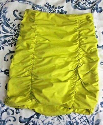 Free Post:  Kookai Size 1 Ruched Fitted Stretchy Short Skirt Bright Yellow