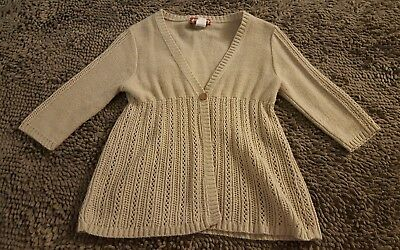 Heartbreakers Club*Vintage Tan Babydoll Cardi Sweater*Girls Size 14/16*USA Made*