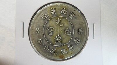 China Yunnan 50 Cents Silver, 1911 - 1915, Y- 257, VF