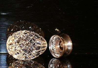 RARE WATERFORD IRELAND CRYSTAL 33 %  LARGE  EGG WITH STAND  EDT. circa 1992