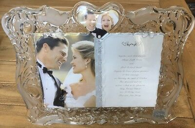 GORHAM 1831 Crystal Wedding Sentimental Traditions Invitation Frame MSRP$80