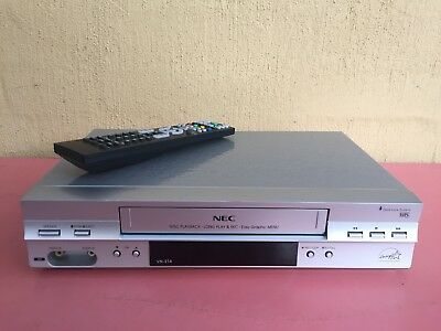 Fully Serviced NEC VN-214 Video Recorder Player + remote VHS Player VCR