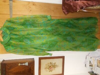 Dickens And Jones Regent Street London Vintage Dress With Attached Coat Large