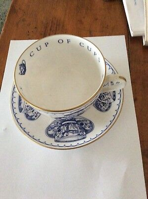 Royal Worcester Cup Of Cups Blue And White