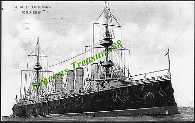 H.M.S. TERRIBLE, Photo, Royal Navy Powerful-class Protected Cruiser,1895 - 1932