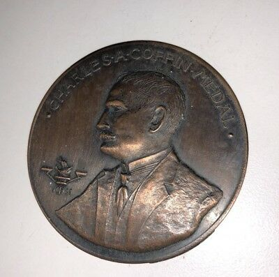Burnished Copper 1948 Charles S A Coffin Medal Award Union Power Co.Missouri GE