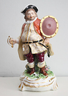 A c19th Derby Polychrome Figure, Sir John Falstaff, in V & A Collection