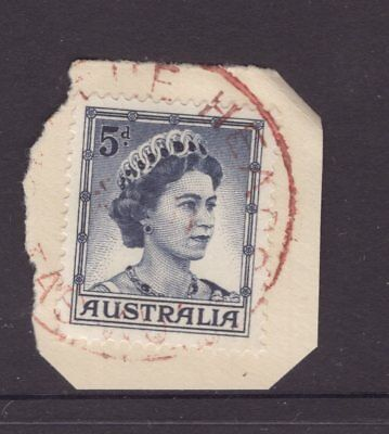 Tasmania BLYTHE HEADS postmark (in red) on 5d QE11 rated S