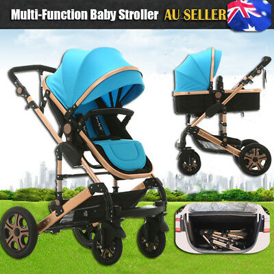 NEW 8 in 1 Baby Toddler Pram Stroller Foldable Buggy Jogger With Bassinet Travel
