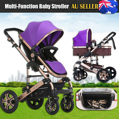 Baby Stroller Pram 8 IN 1 Newborn Baby Jogger Foldable Pushchair Travel Carriage