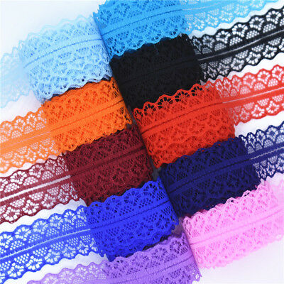 10 Yards 28mm Lace Ribbon DIY Embroidered Net Lace For Sewing Decoration