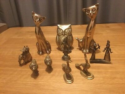 Various Brass Animals And Statues