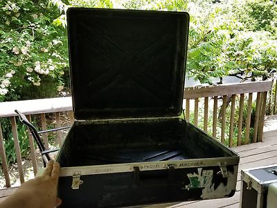 Very large rugged Equipment Case - NO padding 13 x 24 x 24 - small crack - Blue