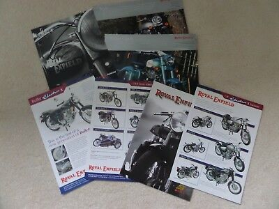 Royal Enfield Motorcycle Sales Brochures Qty 7 All Different