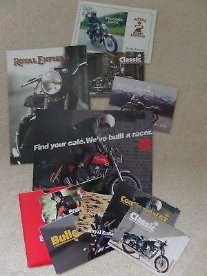 Royal Enfield Motorcycle Sales Brochures Qty 8 All Different