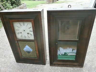 Pair of Antique American Wall Clocks