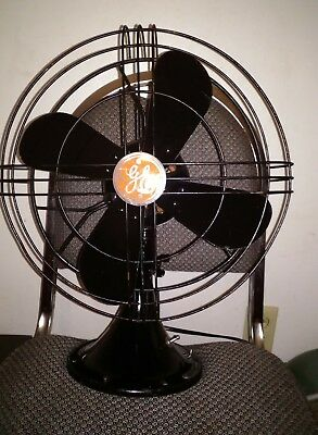 ANTIQUE 4 blade 2 SPEED GENERAL ELECTRIC  OSCILLATING FAN