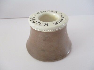 Usher's Scotch Whisky Advertising Match Holder / Striker
