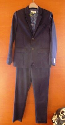 Ted Baker Smart Blue Two Piece Suit Size Age 12 Years Old - Pfk Charity