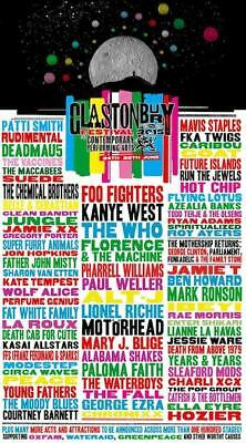 0560 Vintage Music Poster Art - Glastonbury  2015