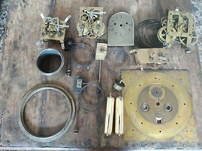 Job lot of antique clock parts - please see photos.