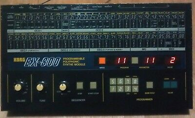 Korg EX-800 (Desktop Poly 800) Vintage Analog Synthesizer Synth - Japan 1984