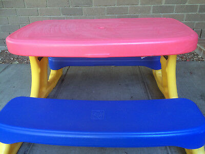 Childrens Grow Nup Outdoor Plastic Table and Chair Set