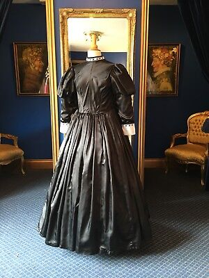 Theatrical Victorian Style Governesses Dress, Fantastic Detailing, Big Size!!!