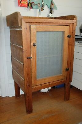 timber meat safe cupboard antique style