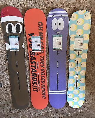 Burton South Parkitect Butters Towelie Mr Hanky Kenny 150 154 157 160 Snowboards