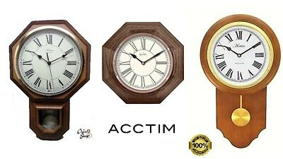 Acctim Woodstock Wood Effect Pendulum Taunton Pendulum Wall Clock & Other Clocks