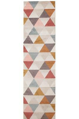 Hall Runner Rug Hallway Modern Mat Carpet Blush New Assorted Sizes FREE DELIVERY