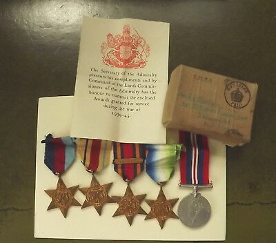 Ww2 Royal Navy Group Of Medals