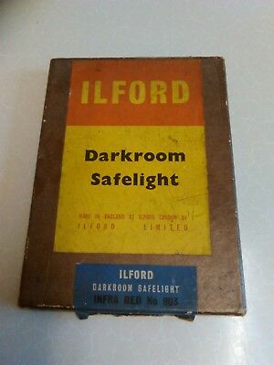 "Vintage Ilford Darkroom Safelight Plate Infra-Red no. 903 - 7"" x 5"" (800)"