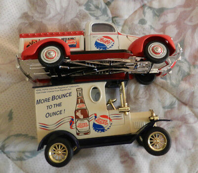 Vintage Pepsi Cola Coin Bank Truck and toy model Pickup truck
