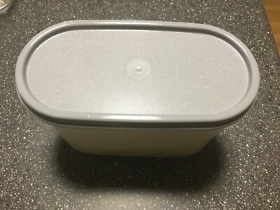 Tupperware modular mate oval number 2,used container brand new grey lid