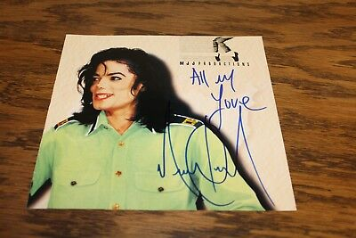 Michael Jackson Signed Mint Condition With Certificate From Roger Epperson