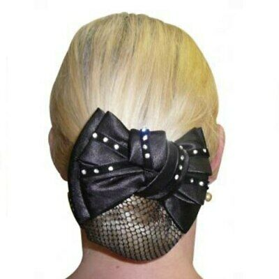 Diamonte Show Bow and Hair Net