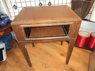 Antique/Vintage Writing Desk Home Office Laptop storage Brown Leather style Top