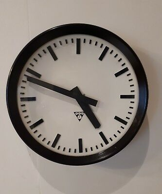 Old Bakelite industrial Factory Clock / Railway / School - PRAGOTRON 12 1/2 inch