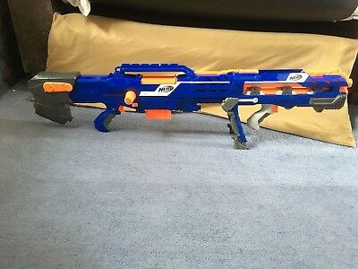 Nerf gun CS 6 Long Shot Sniper Rifle Dart Gun N Strike Elite Blue With Darts