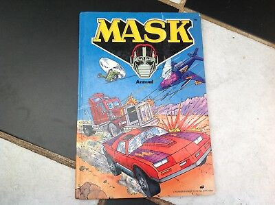 Vintage Original Mask Tv Show Cartoon Annual Book 1986 Rhino Rig Jackhammer Etc.