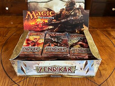 35x sealed Zendikar Booster in Box / Display | MTG Magic the Gathering