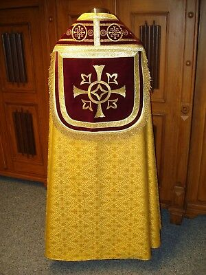 Chormantel, Pluviale, Chormantel Vestment goldfarben