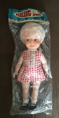 COLLECTABLE VINTAGE 1970s BENKSON DARLING DOLL NEW IN PLASTIC BAG 11 INCHES