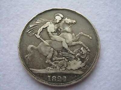 1821 George IV or IIII pre 1920 sterling silver crown coin - Secundo (1)