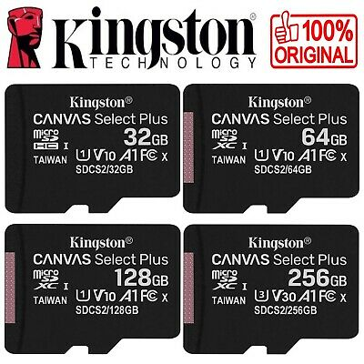 Carte Mémoire Micro SD SDHC SDXC KINGSTON - Au choix : 8 16 32 64 128 Go Gb Giga