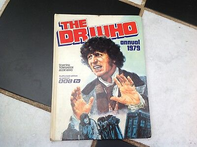 Vintage Original The Dr Who Bbc Tv Show Annual Book 1979 Tom Baker Tardis Leela